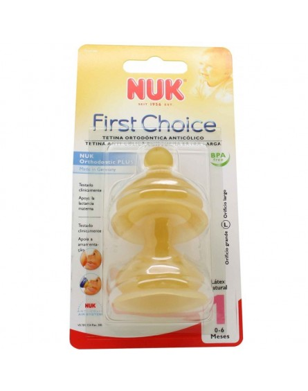 Tetinas First Choice Latex de Nuk