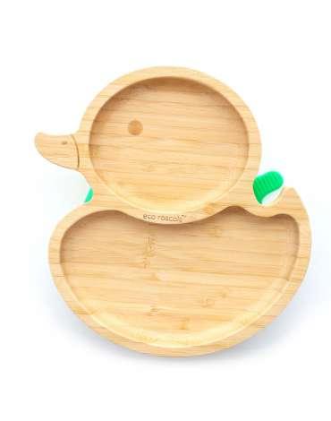 Plato Pato de Bambú Con Ventosa De Eco Rascals