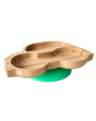 Plato Cohe de Bambú Con Ventosa de Eco Rascals