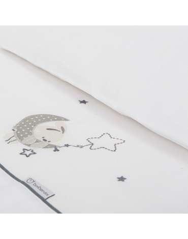 Sábanas de Minicuna Luna Gris de BimbiDreams
