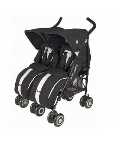 Silla de bebé Maclaren Gemelar Twin Techno Black