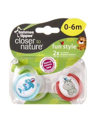 Pack 2 unidades Chupete anatómico Fun style Tommee Tippee