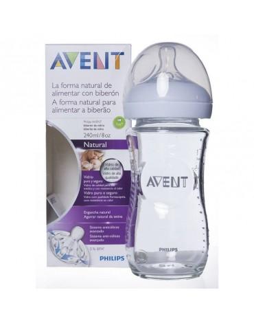Biberón de Cristal 240 ml. Natural de Avent