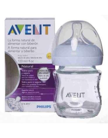 Biberón de Cristal 120 ml. Natural de Avent