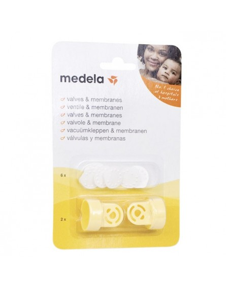Pack 2 Valvulas/ 6 Membranas Sacaleches Medela