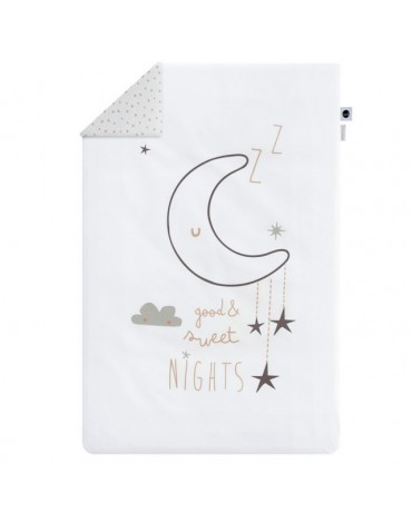 Funda Nórdica Cuna Sweet Night Bca/Cobre de Bimbidreams